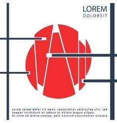 Geometry cover brochure vector image