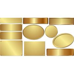 Golden plaques vector