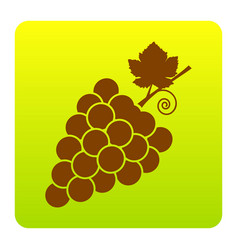 grapes sign brown icon at vector image