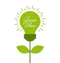 Green idea concept vector
