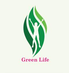 green life logo vector image