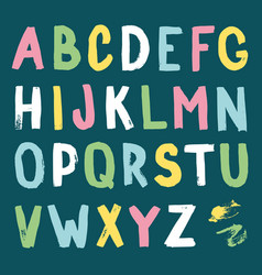 hand-drawn alphabet calligraphy font modern brush vector image