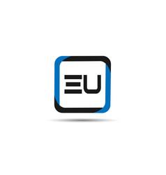 Initial letter eu logo template design vector