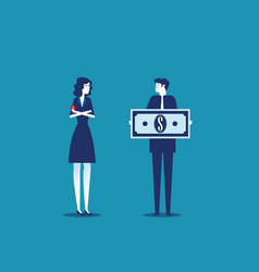 Job salary people and money for labor worker vector