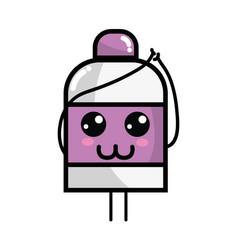 Kawaii cute happy ointment pharmaceutical medicine vector
