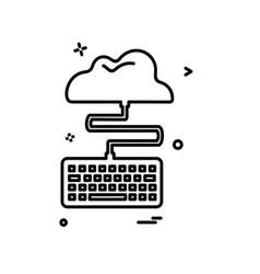 key board icon design vector image