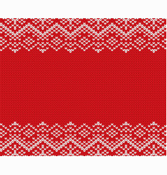 knit christmas geometric ornament design with vector image