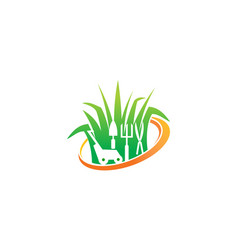 Lawn mower service vector