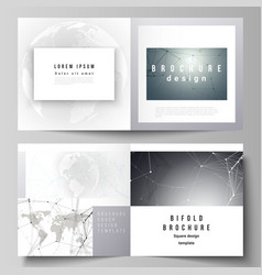 Layout of two covers templates for square vector