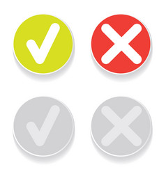 line green check mark or check box icons set vector image