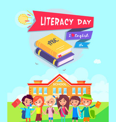 Literacy day poster vector