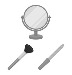 makeup and cosmetics monochrome icons in set vector image