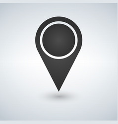 map pointer blank icon template vector image