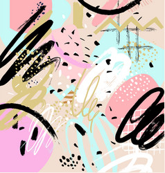 Modern abstract background memphis style vector