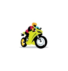 Motorcycle races sign vector