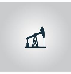 Oil derrick Black icon vector