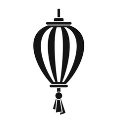 outdoor asian lantern icon simple style vector image