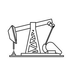 Petroleum extraction machine vector