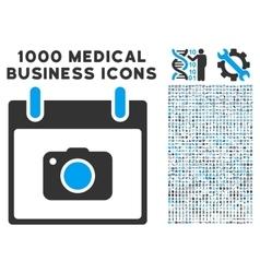 Photo Camera Calendar Day Icon With 1000 Medical vector image