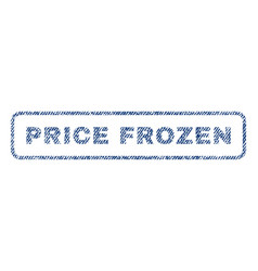 price frozen textile stamp vector image