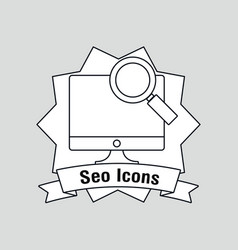 seo icons design vector image