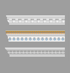 Set classical cornices vector