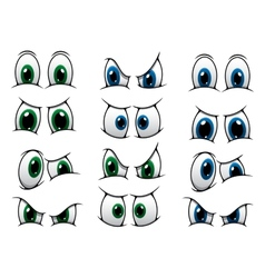Set of cartoon eyes showing various expression vector image
