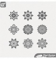 set of Line thai art design vector image