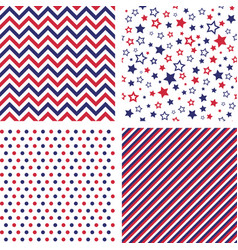 set of us style seamless patterns vector image