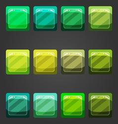 Shiny button 3 vector