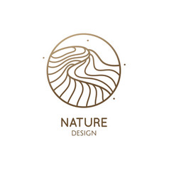 simple logo pattern structure of water vector image