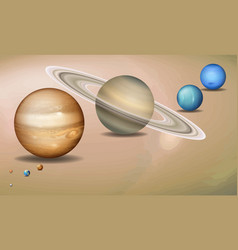 solar system three dimensional concept vector image