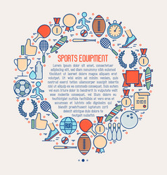sport equipment concept in circle vector image
