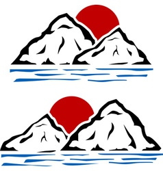 stencils of mountains vector image
