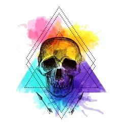 Tattoo style skull vector