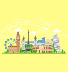travel concept hello vector image