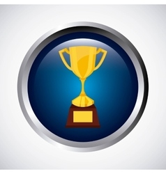 tropphy winner button icon vector image