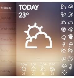 Weather Widget UI set vector
