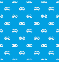 Zombie mouth pattern seamless blue vector