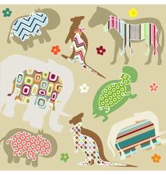 abstract natural animal pattern vector image