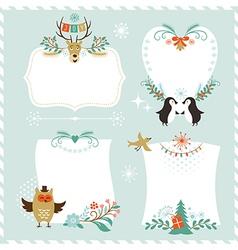 Christmas banners set vector image vector image