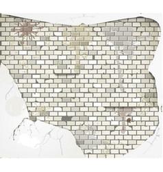Damaged wall vector