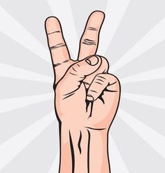 Dva prsta koza bela resize vector image