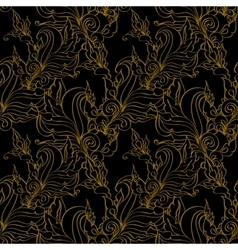 Gold seamless Fashion patterns vector image vector image