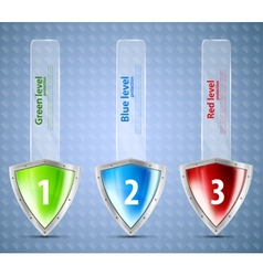 Set of banners with shields vector image