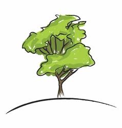 Big tree drawing vector image