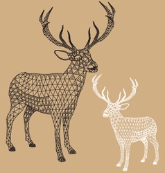 Christmas reindeer with geometric pattern vector image vector image