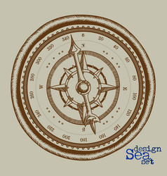 Compass freehand drawing vector
