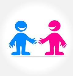 friend template logo vector image vector image
