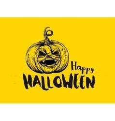 Halloween Pumpkin and typography vector image vector image